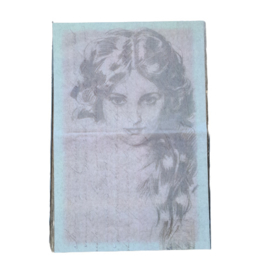 decoupage papier schetstekening