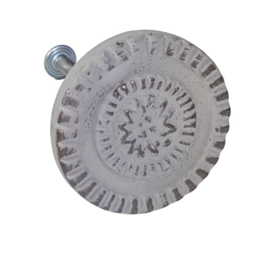 deurknop metaal rond distressed MK26/G