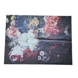 decoupage papier bloemen