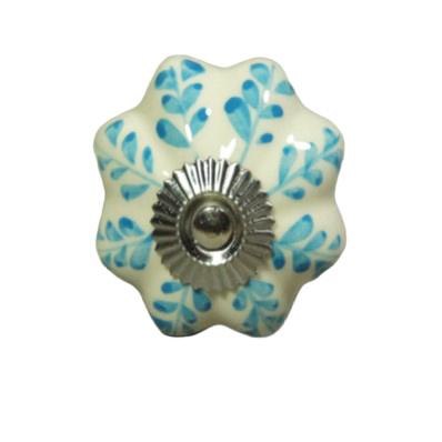 "porseleinen deurknop ""blue flower"""