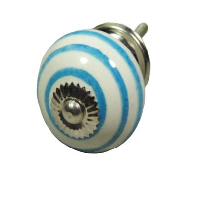 """porseleinen knop""""twist blauw-L"""""""