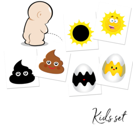 Verkleurende Toiletstickers Set Kids - 3 Stickers