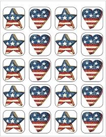Amerika I - 20 stickers