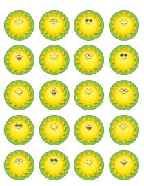 Zomerzonnetjes - 20 stickers
