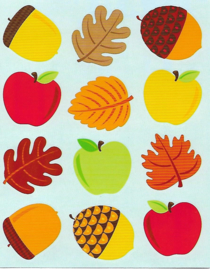 Fun met Herfst - 12 Stickers