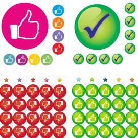 Beloningsstickers Grote Set Like - 4 Vel - 216 Stickers - 19mm