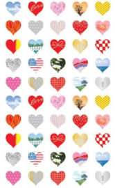 Hearts all over the World - 40 Stickers