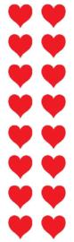 Rode Harten -  16 Stickers