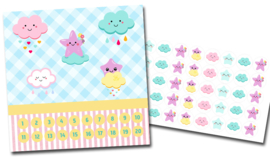 Beloningssysteem Cute Clouds met stickers - Complete Set