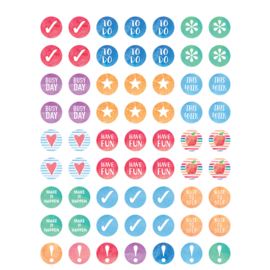 Planner Stickers Waterverf Mini - 63 stickers