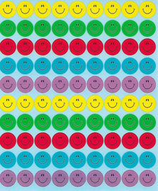 Smileys Multicolour - 90 stickers