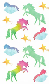 Unicorns Rainbow - 13 Stickers