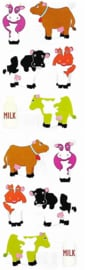 Mollige Koeien - 12 Stickers