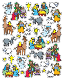 Kerststal - 31 Stickers
