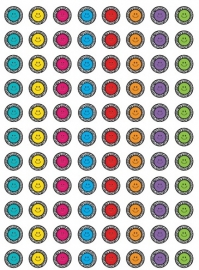 Zebra Smileys - 88 Stickers