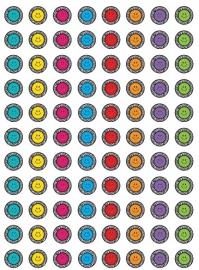 Zebra Smileys - 88 Stickers