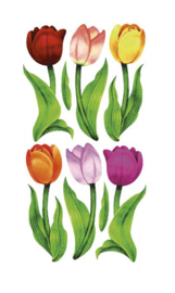 Tulpen stickers - 6 stickers