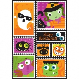 Halloween Postzegel Stickers - 12 Stickers