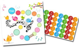Beloningssysteem Muziek met stickers - Complete Set
