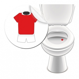 Toilet Stickers Shirt Rood 25mm - 2 Stickers