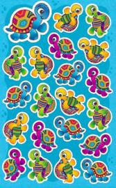Slome Schildpadden - 21 Stickers