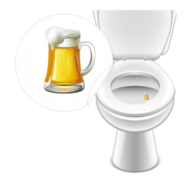 Toilet Stickers Bier! 25mm - 4 Stickers