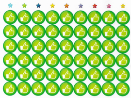 Beloningsstickers Like Groot 19mm - 54 Stickers
