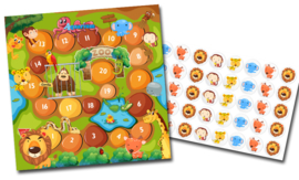 Beloningssysteem Dierentuin met stickers - Complete Set