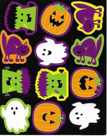 Halloween Fun  - 12 Stickers