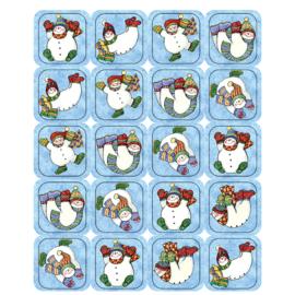 Spelende Sneeuwman - 20 Stickers