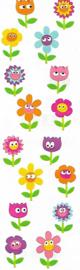 Vrolijke Bloemen - 16 Stickers