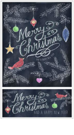 Chalk Talk - Merry Christmas - 2 Stickers