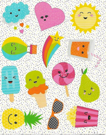 Zomer Fun  - 12 Stickers