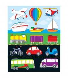 Transport Vorm Stickers - 14st