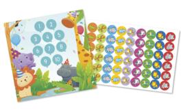 Beloningskaarten met grote stickers - Feestbeestjes - Topkwaliteit