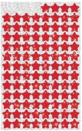 Rode Sterren Glitterstickers 100 Stickers