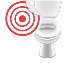 Toilet Stickers In de Roos II 20mm - 2 Stickers