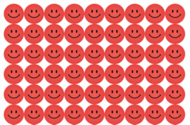 Beloningsstickers Rode Smilies - 54 Stickers