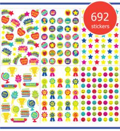 Megapak Stickers voor Meesters en Juffen - 12 Vel - 692 Stickers