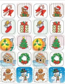 Kerstmis - 20 Stickers