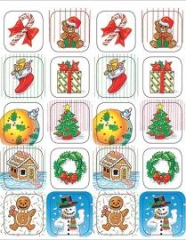 Kerstmis - 20 Stickers