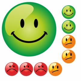 Beloningsstickers Groen Oranje Rood Groot 19mm - 54 Stickers