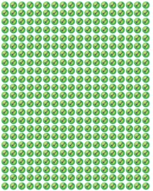 Beloningsstickers Groene Vinkjes Klein 10mm- 368 Stickers Mega Set