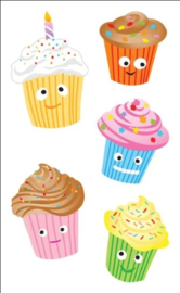 Cute Cupcakes - 10 Stickers