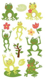Kikkers met Glitters - 13 stickers