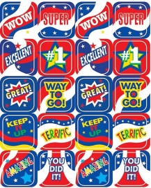 Wow Super - 20 Stickers