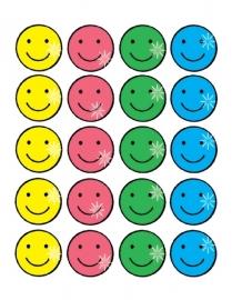 Glittersmileys Groot - 20 stickers