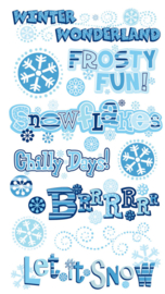 Winter Wonderland Stickers - 16 stickers