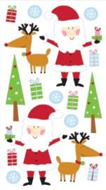 Grappige Kerstman - 17 Stickers