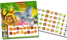 Beloningssysteem Jungle met stickers - Complete Set